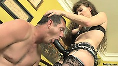 Tantalized female and perverted guy switch roles today and choose pegging games