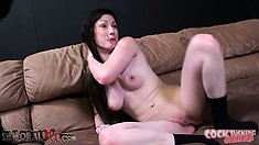 Jennifer White gets choked as she cums and Casey Stone gets her ass fingered