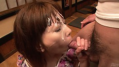 She has so many hard dicks to suck, the facial just gets messier