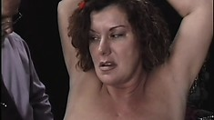 Old dom gets freaky with his mature sub and her big naturals