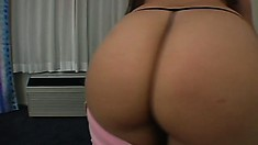 Sexy young blonde newbie shows off her sexy ass and gets drilled