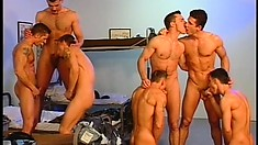 Days in the army can be boring - but then there comes wild gay sex!