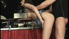 Tiffany Sweet Bends Over And A Horny Guy Pounds Her Snatch Doggy Style