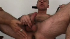 Miitary studs take a break from the workout and fuck hard in the gym