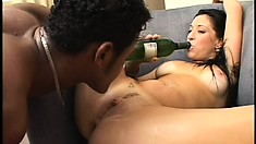 Two stunning girls get their pussies wrecked by two hot guys