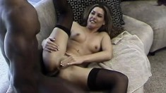 Cute hooker gets an interracial fuck from her client's big black cock