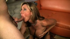 Lustful blonde cougar with big boobs Jodi West needs to get pounded deep and hard