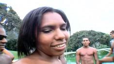 Brazilian Bitches Get Their Big Asses Slammed Balls Deep Outdoors