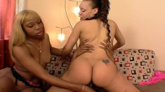Fine Ass Caramel Beauties With Huge Asses Bang Their Homies Together