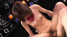 Naughty Japanese Idol gets fucked nad covered in cum on stage