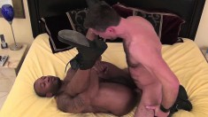 Sexy Matt Sizemore and Kamrun plow each other's tight cumholes