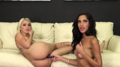 Chloe and Stevie engage in intense lesbian sex before cumming together