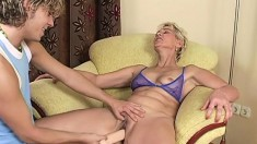 Blonde Gilf Wants To Ride A Relentless Young Rod Of Pleasure