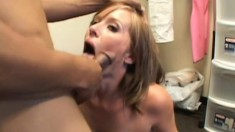 Naomi Cruise gets felt up and gives him head on her knees for a facial
