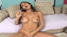 Busty brunette cougar in heat Shy Love takes Tony's big rod up her ass