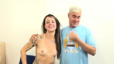 Tattooed slut with a perky ass Sammie gets drilled in every position