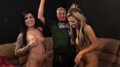 Jennifer White, Karmen Karma and Nikki Sexx feed their hunger for cum