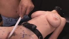 Masked Slut With Big Natural Boobs Erin Indulges In Multiple Orgasms