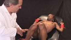 Jayden gets an electrical charge, eats his meat and gets a facial