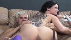 Amy Brooke and Tory Lane release their juices and enjoy some hard meat