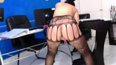 Sexy Lesbians In Stockings And Sex Toys