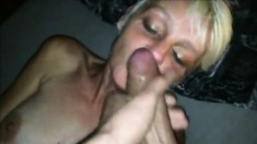 Skinny Milf Giving Mouth To Him