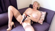 An Appealing Blonde With Big Boobs And Sexy Masturbate