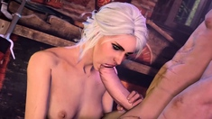 3D Animation Ciri with Big Juicy Booty Fucked in All Poses