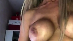 Busty blonde babe with big boobs fucked hard