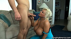 Claudia Marie bags herself a young stud thanks to her huge titties