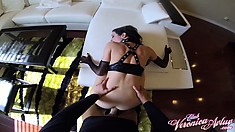 Veronica gets her cunt drilled on her back and goes doggy in POV
