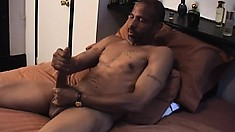 Hung thug with great muscles thugs on his massive black member