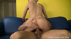 Blond small-breasted beauty Kelly Klass practice sweet cock-sucking