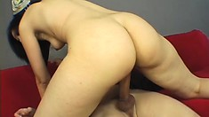 Velvet is a cute cocksucker who loves to fuck and makes Manuel cum