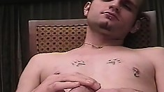 Hot gay boys kiss each other, exchange blowjobs and indulge in anal sex