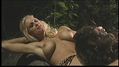 Brooke Hunter, a busty blonde with a hot ass, has a tight pussy eager to be pleased