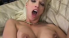 Blonde cougar Nikki has the photographer pounding her fiery ass deep