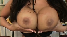 Ava Devine is a buxom Asian cougar with a passion for rough anal sex