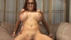 Ridiculously busty Kitti Lynxxx gets some real rough dicking