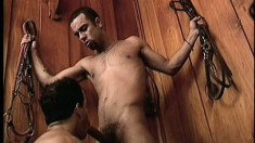 Kinky cowboy loves the feeling of a thick cock up his butthole