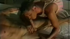 Slutty stud gets his tight holes plowed by a big young schlong