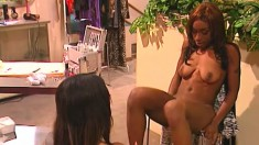Africa and Lacey Duvalle have an evening snack of pussy after hours