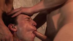 Daniel Johnson, Luke Desmond and Alfie Bee engage in a hot threesome