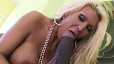 Buxom blonde milf Michelle McLaren pleases herself with big sex toys