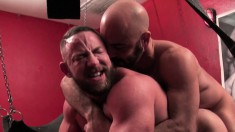 Playful Adam Russo and hunky Shay Michaels get into hot gay action