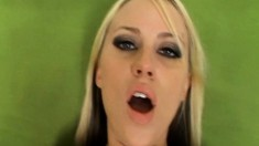 Hot Hayley Jayde has her mouth and her pussy pleasing her man's cock