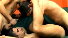 Three Sexy And Horny Buddies Satisfying Their Gay Urges On The Couch