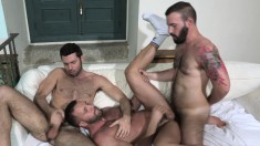 Horny Tourist Seduces Two Irresistible Guys For A Torrid Gay Threesome