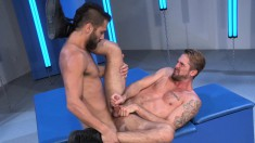 Bearded Hunks Get Some Ass Licking And Hard Fucking Until They Blow Their Loads