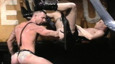 Gay dude can suck his own dick and they fist each others' asses